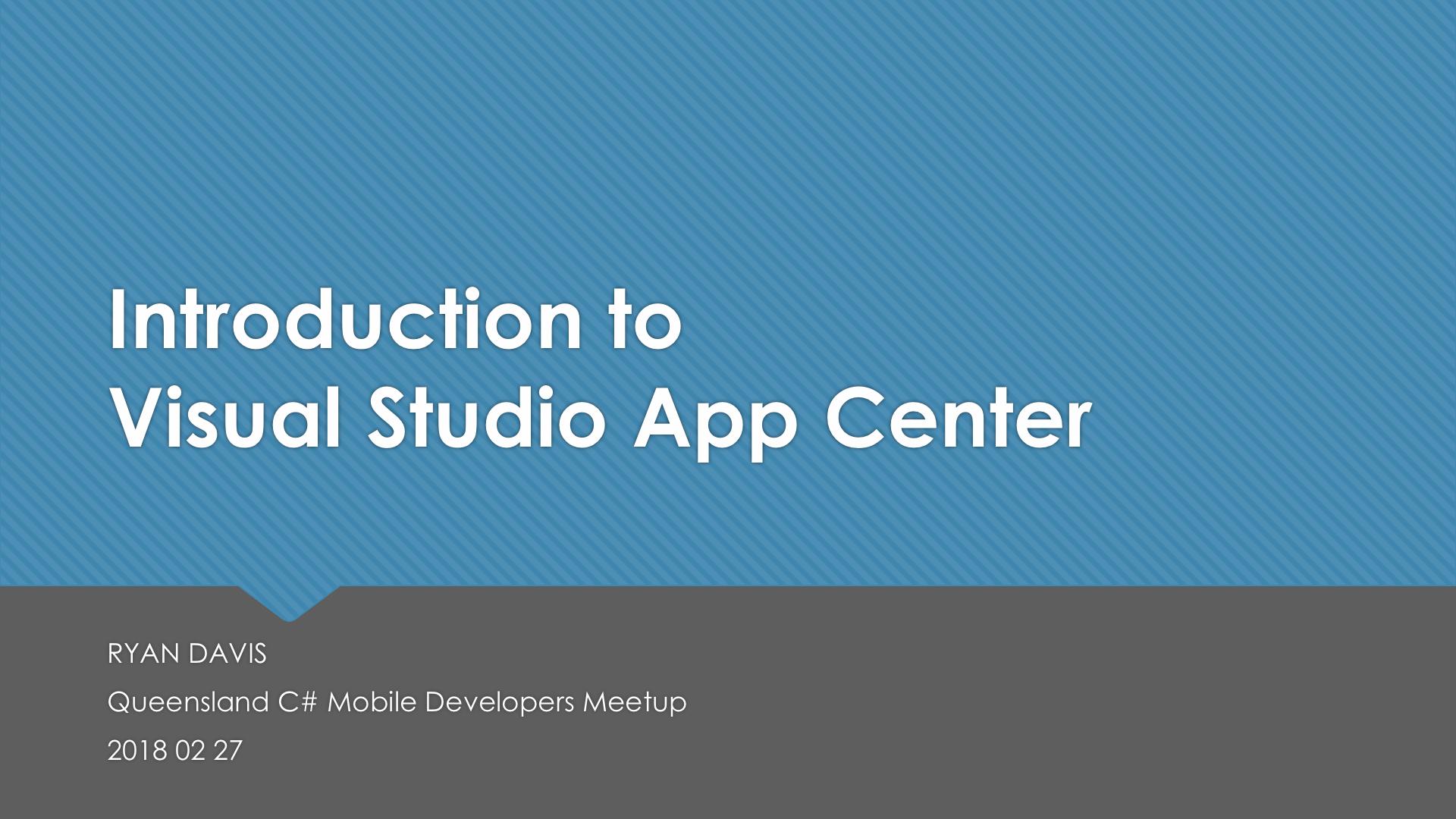 Introduction to Visual Studio App Center